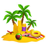 Beach Rest Background Stock Images