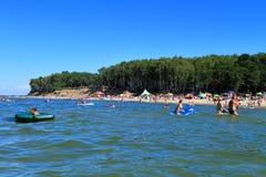 Beach rest on the Baltic Sea in July. Kulikovo, Kaliningrad region, Russia Royalty Free Stock Image