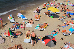 Beach rest on the bank of the Baltic Sea Royalty Free Stock Photography