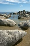 Beach, rest, freedom. Stones at coast of the Japanese sea Stock Photo