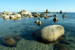Beach, rest, freedom. Stones at coast of the Japanese sea Stock Image
