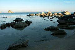 Beach, rest, freedom. Stones at coast of the Japanese sea Royalty Free Stock Photo