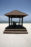 Beach rest pavilion in Gili island, Trawangan, Indonesia Stock Photography