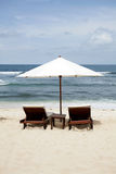 Beach rest pavilion in Gili island, Trawangan, Indonesia Stock Photos