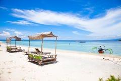 Beach Rest Pavilion In Gili Island, Trawangan Royalty Free Stock Photos
