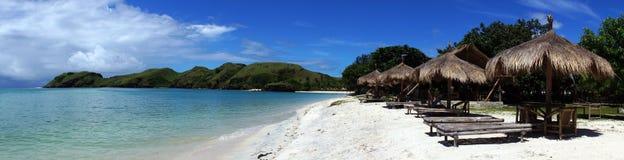 Beach rest pavillion in islands Stock Photos