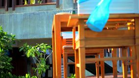 Beach restaurant with a beautiful sea view. Thailand Koh Samui stock footage