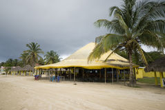Beach restaurant caribbean island Royalty Free Stock Photos