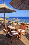 Beach restaurant, Egypt Royalty Free Stock Image