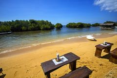 Beach restaurant, Lembongan, Indonesia Stock Images