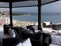 Beach restaurant Opatija Croatia Stock Images