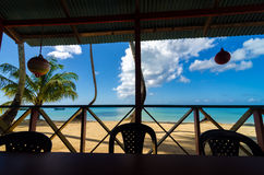 Beach and Restaurant View Royalty Free Stock Photography