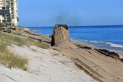 Beach restoration project Stock Photo