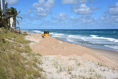 Beach restoration Stock Photo