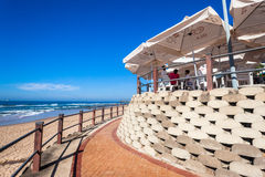 Beach Restuarant Umbrellas  Royalty Free Stock Photos