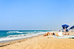 Beach in Rethymno Stock Photography