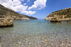 Beach at Rhodes island, Greece Royalty Free Stock Photos