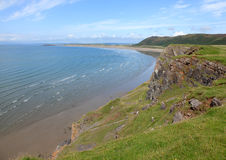 The beach at Rhossili bay Royalty Free Stock Photography