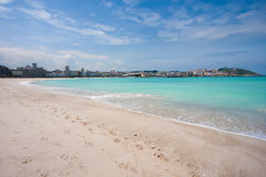 Beach of Riazor Royalty Free Stock Images