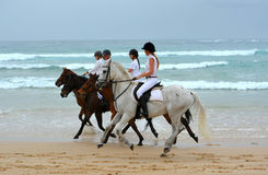 Beach riders Stock Image
