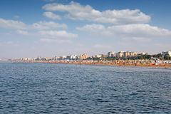 Beach Rimini Adriatic sea Stock Images