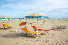 Beach in Rimini, Italy Stock Photos