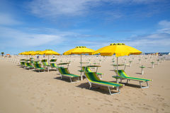 Beach in Rimini, Italy Royalty Free Stock Images
