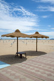 Beach in Rimini, Italy Royalty Free Stock Photography