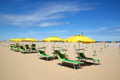 Beach in Rimini, Italy Royalty Free Stock Photo