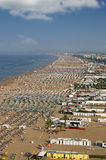Beach Rimini Italy. Summer season royalty free stock images