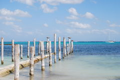 Beach Riviera Maya. Taken at the Maroma beach resort on the Mayan Riviera royalty free stock image