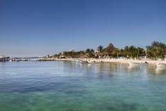 Beach in Riviera Maya. Beautiful beach in Riviera Maya royalty free stock photo