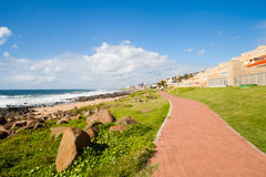 Beach road. Beach pedestrian road in Ballito, Durban north coast, South Africa Royalty Free Stock Images