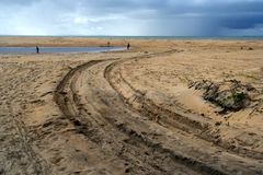 Beach road Royalty Free Stock Photo