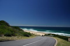 Beach Road. A Hot summers day Royalty Free Stock Photos
