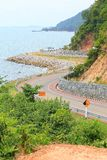 Beach Road. In Chanthaburi Province of Thailand stock photography