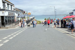 Beach road, Newquay, Cornwall. Royalty Free Stock Photography