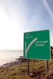 Beach road sign Royalty Free Stock Photos