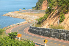 Beach road winding during the summer Royalty Free Stock Image