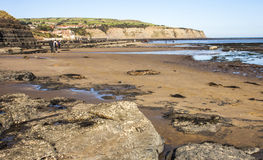 Beach at Robin Hood's Bay, near Whitby Royalty Free Stock Photo