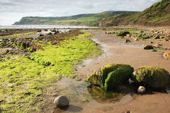 Beach at Robin Hoods Bay. North Yorkshire stock image