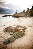 Beach Rock Formation. Rock formations in Laguna Beach, California Royalty Free Stock Photography