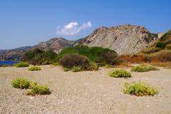 Beach with rock on island Zakynthos Royalty Free Stock Photos