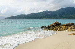 Beach with rock at lipe island thailand Stock Photography
