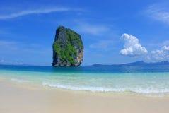 Beach. rock in the ocean Royalty Free Stock Photo