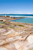 Beach rock pool. Traditional austalian city rock pools, Pacific Ocean, Cronulla Beach, Sydney, Australia Stock Images