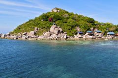Beach    rocks house in thailand and south china sea Stock Photos