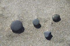 Beach rocks. Nice rocks on fine sands on Oregon beach Royalty Free Stock Photography