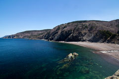 Beach and Rocks off of Meat Cove Nova Scotia Stock Photography