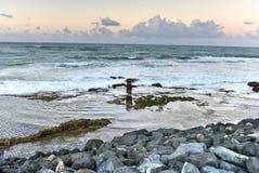 Beach and Rocks off San Juan, Puerto Rico Stock Image